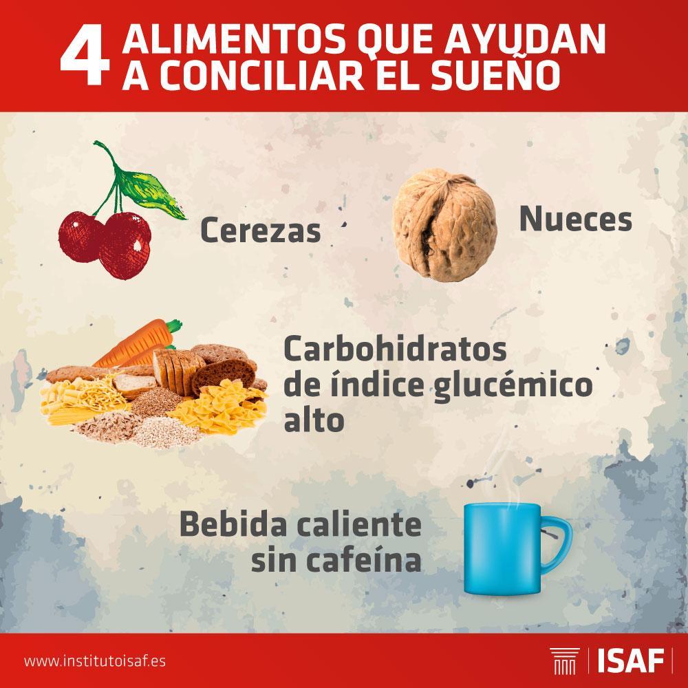 alimentos para conciliar el sueño - ISAF