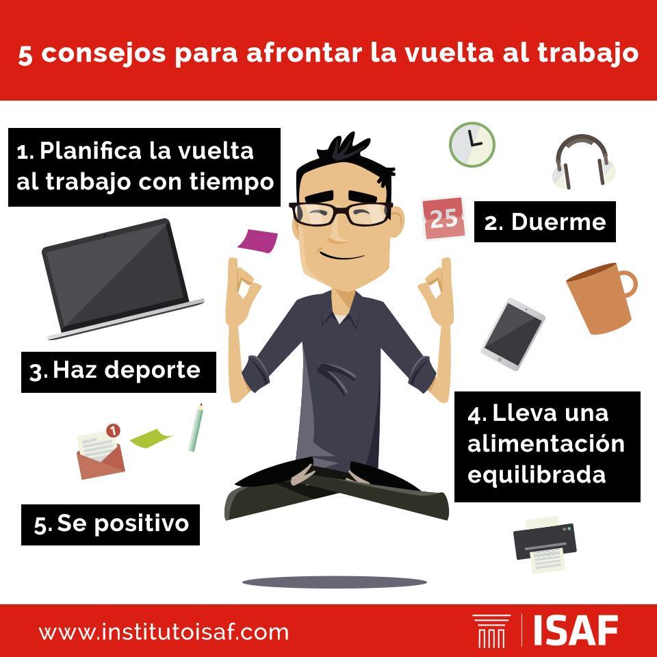 5 consejos para afrotnar la vuelta al trabajo - ISAF