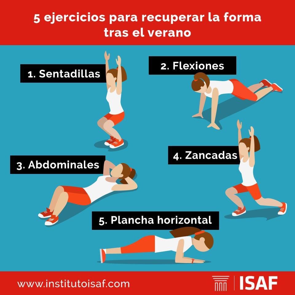 Ejercicios para recuperar la forma física tras el verano - ISAF